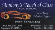 Anthony's Touch Of Class Collision Center